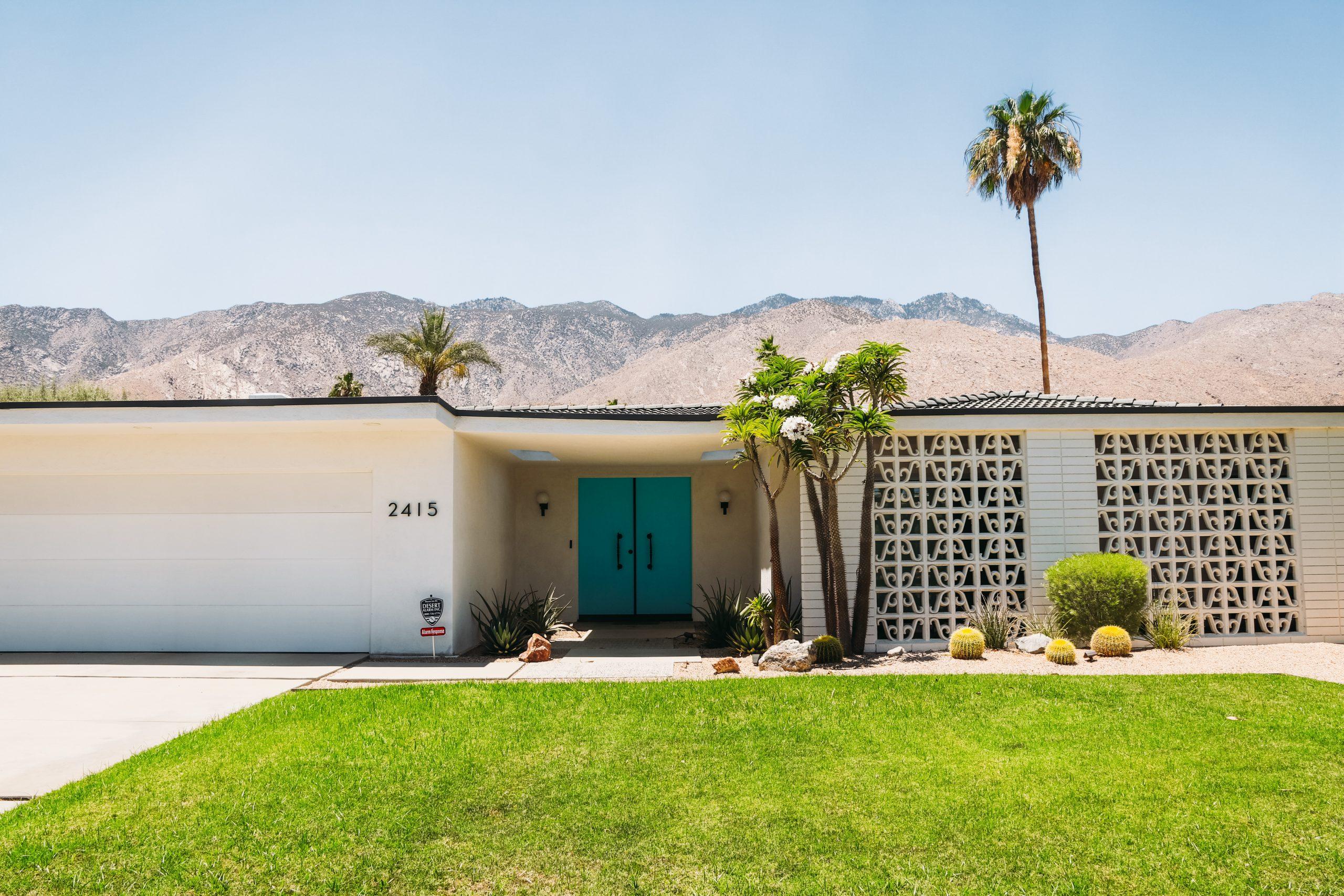 Palm Springs turquoise door